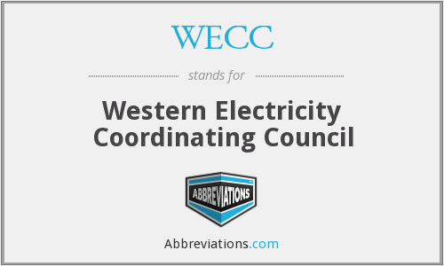 What does WECC stand for?