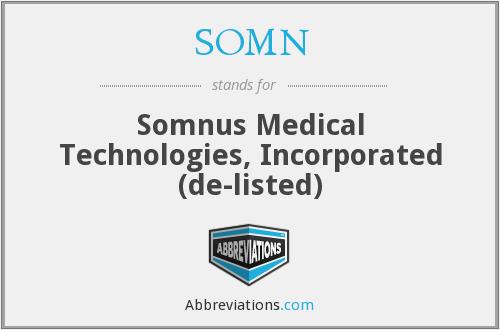 What does SOMN stand for?