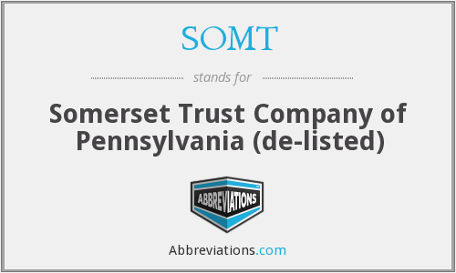 What does SOMT stand for?