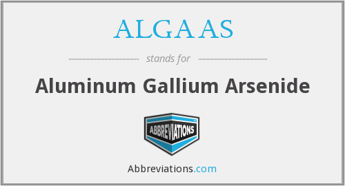 What does ALGAAS stand for?