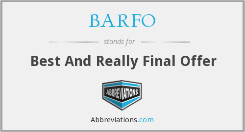 What does BARFO stand for?