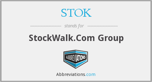 What does STOK stand for?
