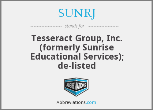 What does SUNRJ stand for?