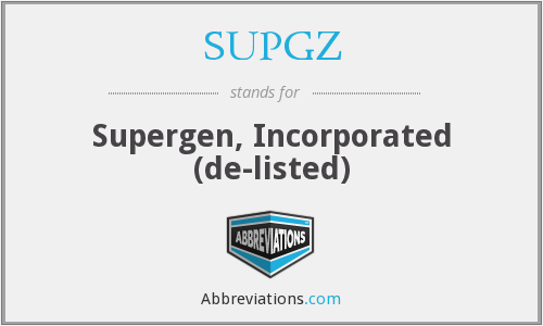 What does SUPGZ stand for?
