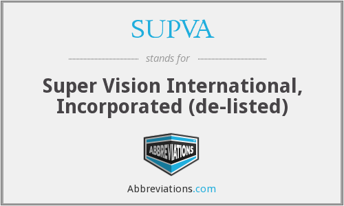 What does SUPVA stand for?