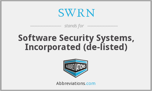 What does SWRN stand for?