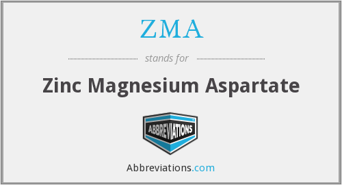 What does ZMA stand for?