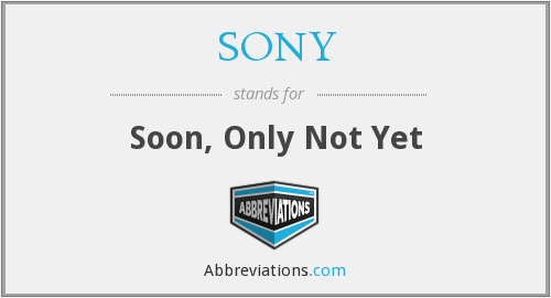 What does SONY stand for?