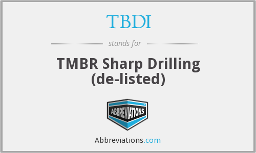 What does TBDI stand for?