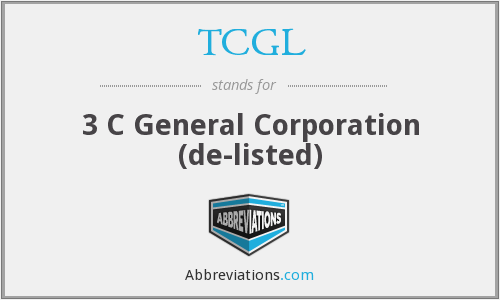What does TCGL stand for?