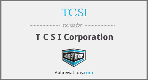 What does TCSI stand for?