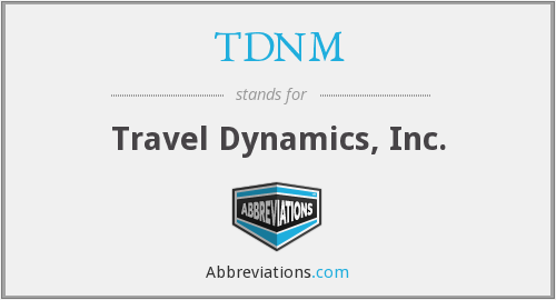 What does TDNM stand for?