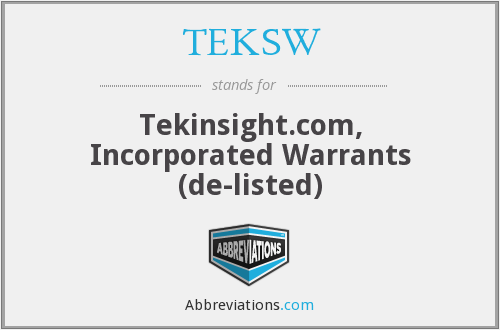 What does TEKSW stand for?