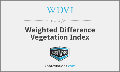 What does WDVI stand for?