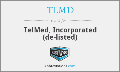What does TEMD stand for?