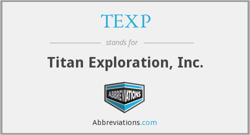 What does TEXP stand for?