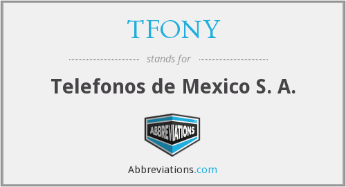What does TFONY stand for?