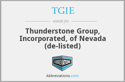 What does thunderstone stand for?