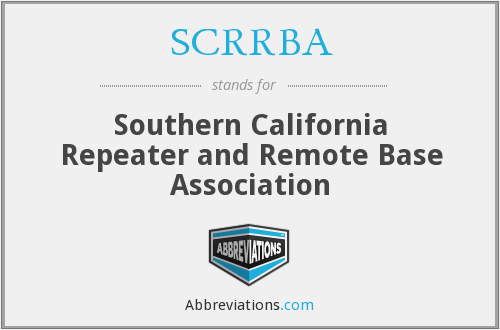 What does SCRRBA stand for?