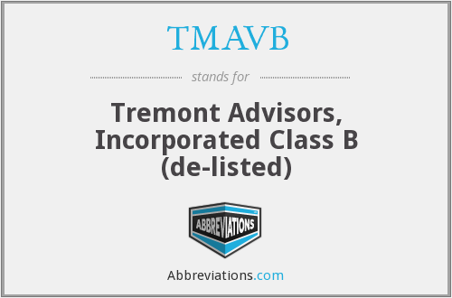 What does TMAVB stand for?