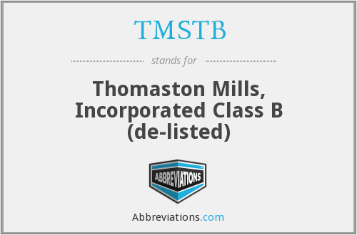 What does TMSTB stand for?