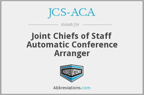 What does JCS-ACA stand for?