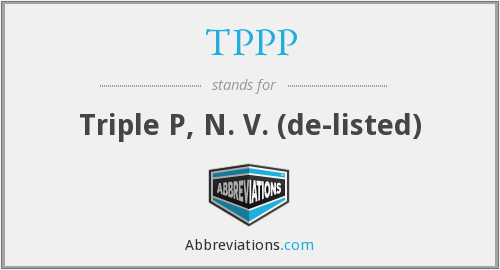 What does TPPP stand for?