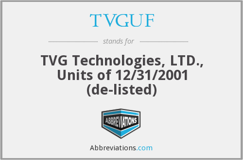 What does TVGUF stand for?