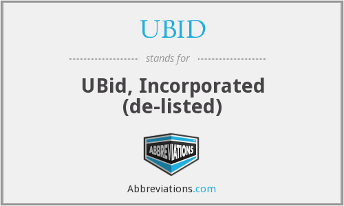 What does UBID stand for?