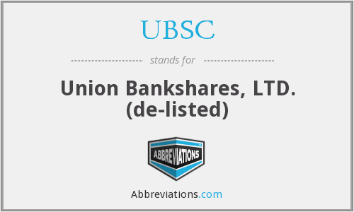 What does UBSC stand for?