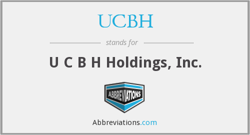 What does UCBH stand for?
