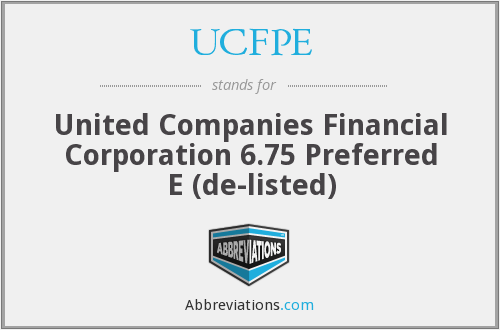What does UCFPE stand for?