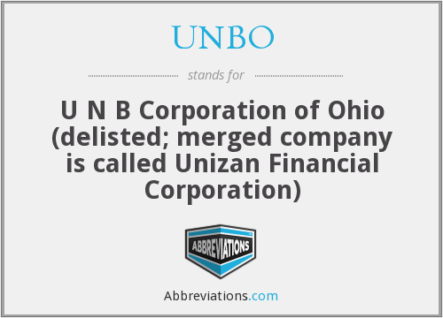 What does UNBO stand for?