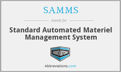 What does SAMMS stand for?