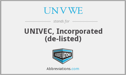 What does UNVWE stand for?