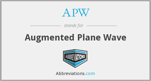 What does APW stand for?