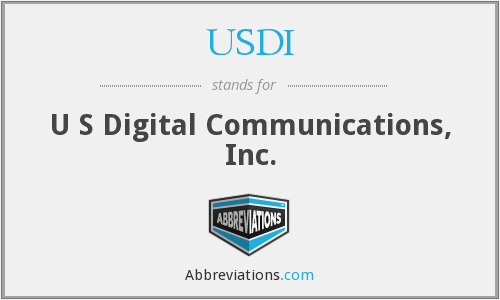 What does USDI stand for?
