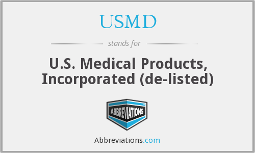 What does USMD stand for?