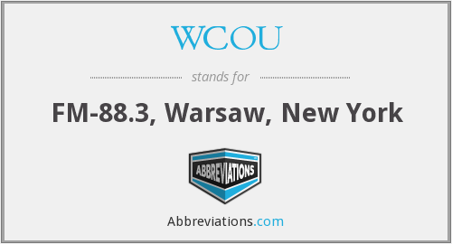 What does WCOU stand for?
