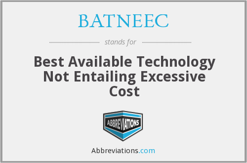 What does BATNEEC stand for?