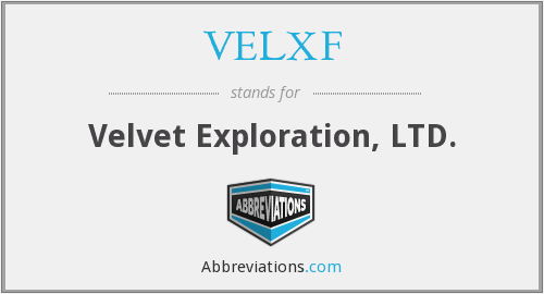 What does VELXF stand for?