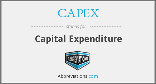 What does CAPEX stand for?