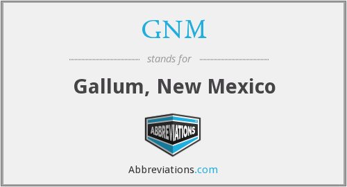 What does GNM stand for?