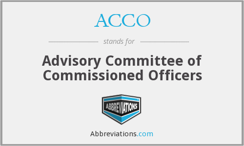 What does ACCO stand for?