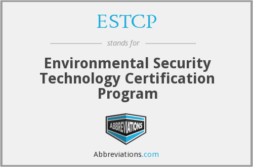 What does ESTCP stand for?