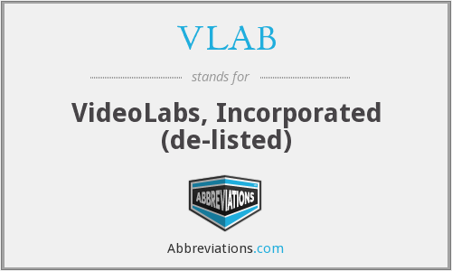 What does VLAB stand for?