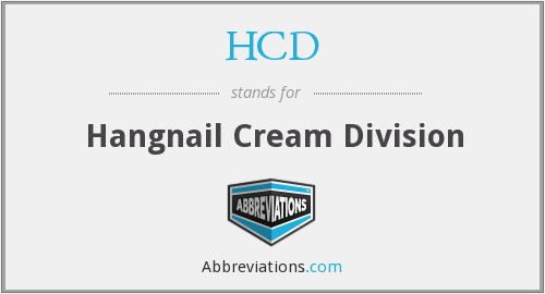 What does HCD stand for?