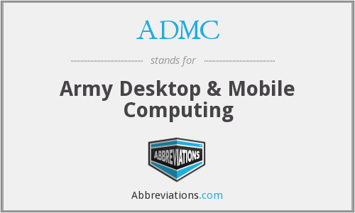 What does ADMC stand for?