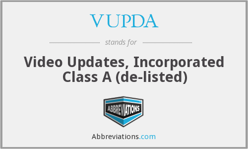 What does VUPDA stand for?