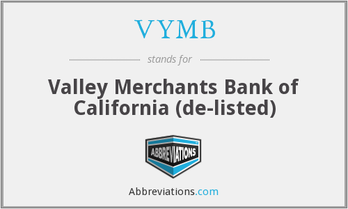 What does VYMB stand for?